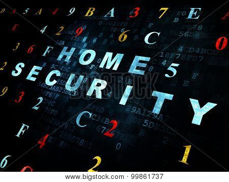 Privacy concept: Home Security on Digital background