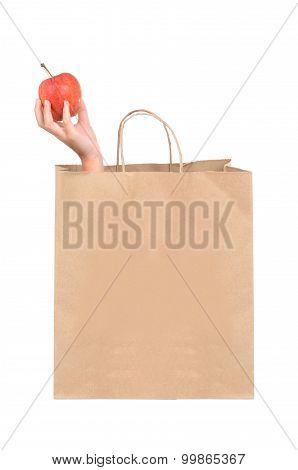 Grocery Bag Apple