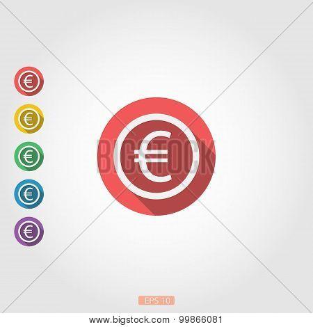 Around icon euro sign