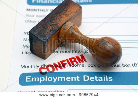 Employment Form Confirm