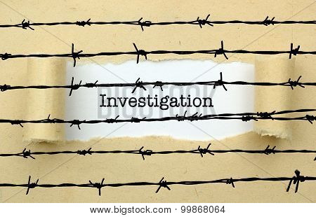 Investigation Text Against Barbwire