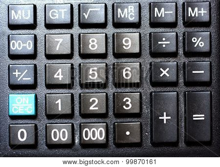 Calculator close up detailed photograph