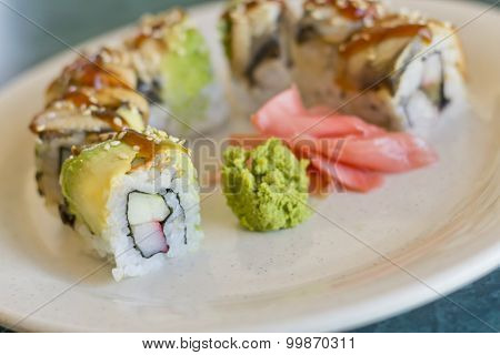 Avocado Eel Crab Sushi