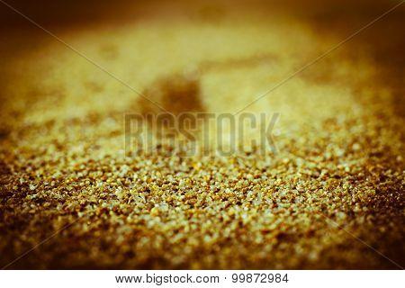 Close Up Of Sea Beach Sand