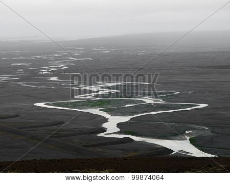 Glacier flood plain in Iceland