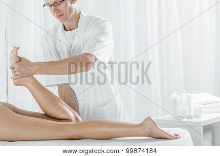 Sports Masseur During Work