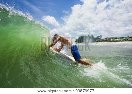 Picture of man Surfing a Wave