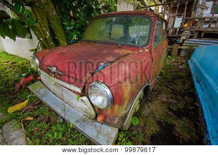 Boquete, Panama - April 12, 2015 : Old Austin Classic Car In Boquete Which Is A Small Town On The Ca