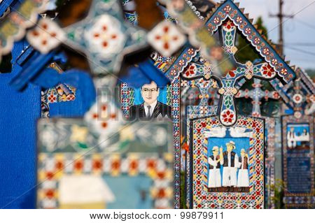 Sapanta,romania - 04 July, 2015- The Merry Cemetery Of Sapanta, Maramures, Romania. Those Cemetery I
