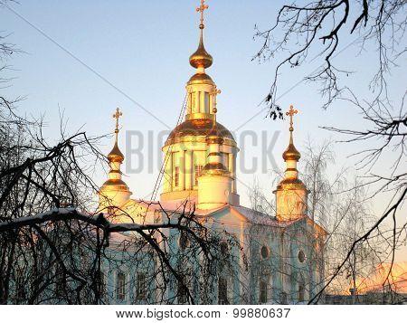 Church Cupola And Blue Sky