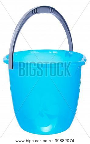 Plastic blue bucket