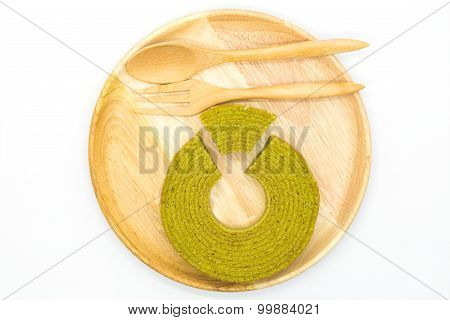 Multiple layers green tea cake