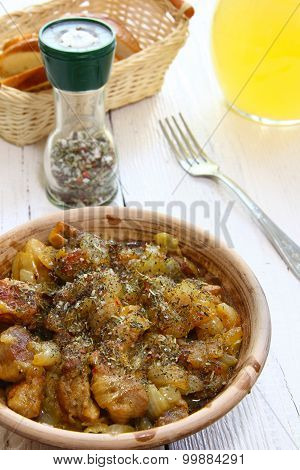 Braising Meat With Italian Herbs