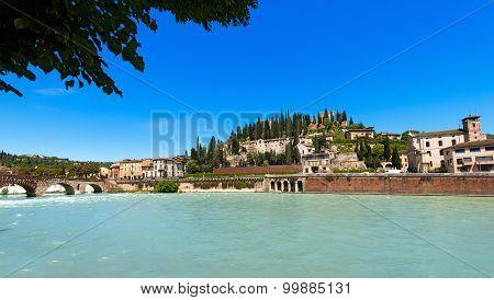 Hill And Ponte Pietra - Verona Italy