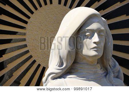 The grave memorial of Dalida