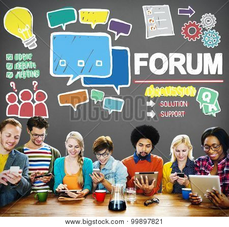 Forum Chat Message Discuss Talk Topic Concept