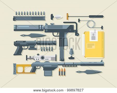 Set of weapons