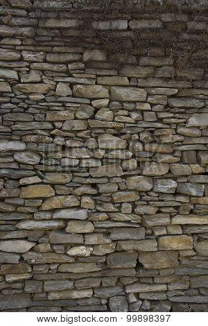 Stone Wall: Texture Of Vintage Brickwork - Stone Brick