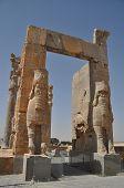 stock photo of xerxes  - Ruins of historic city of Persepolis - JPG