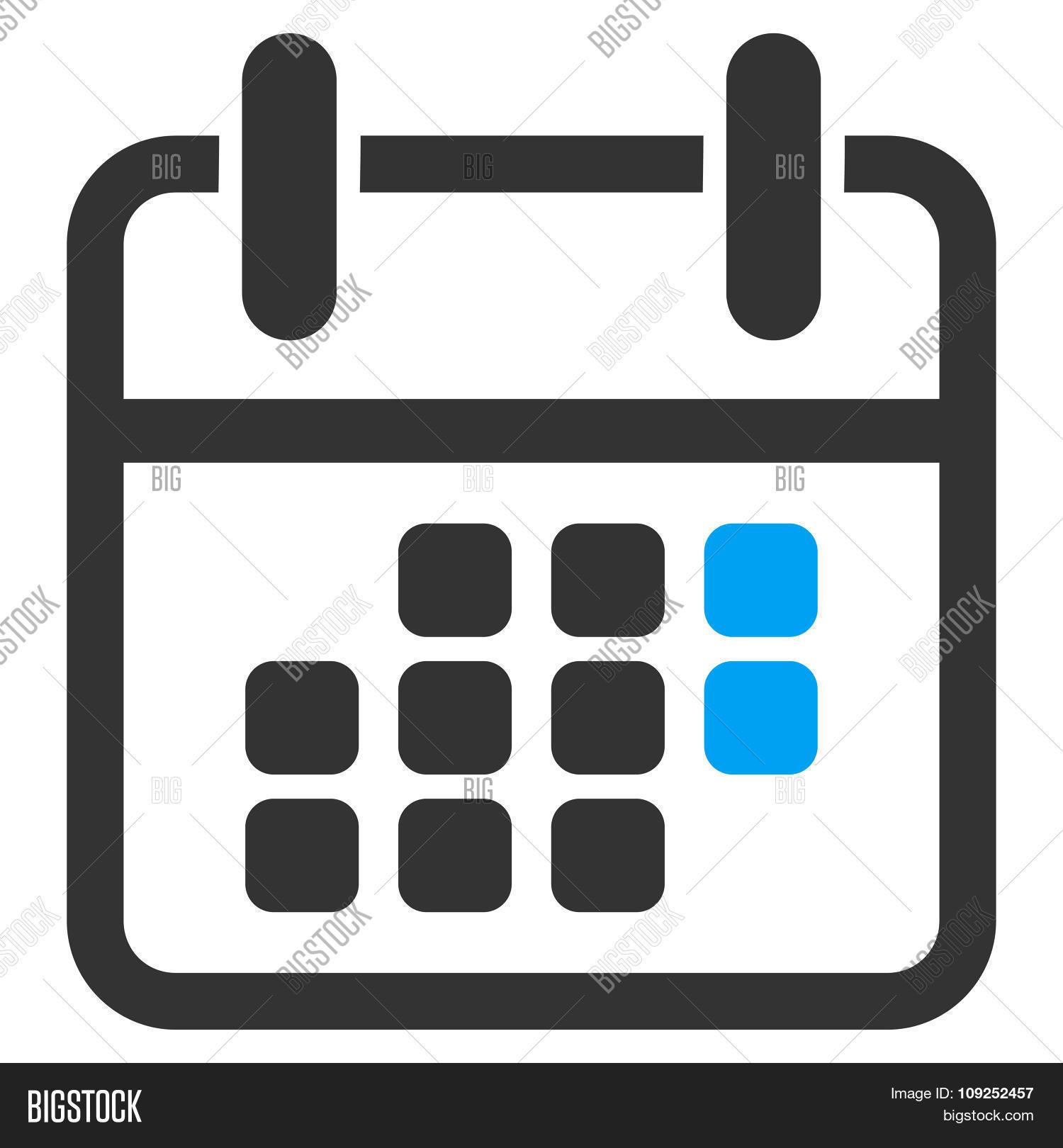 Calendar Weekend Icon Stock Vector & Stock Photos | Bigstock