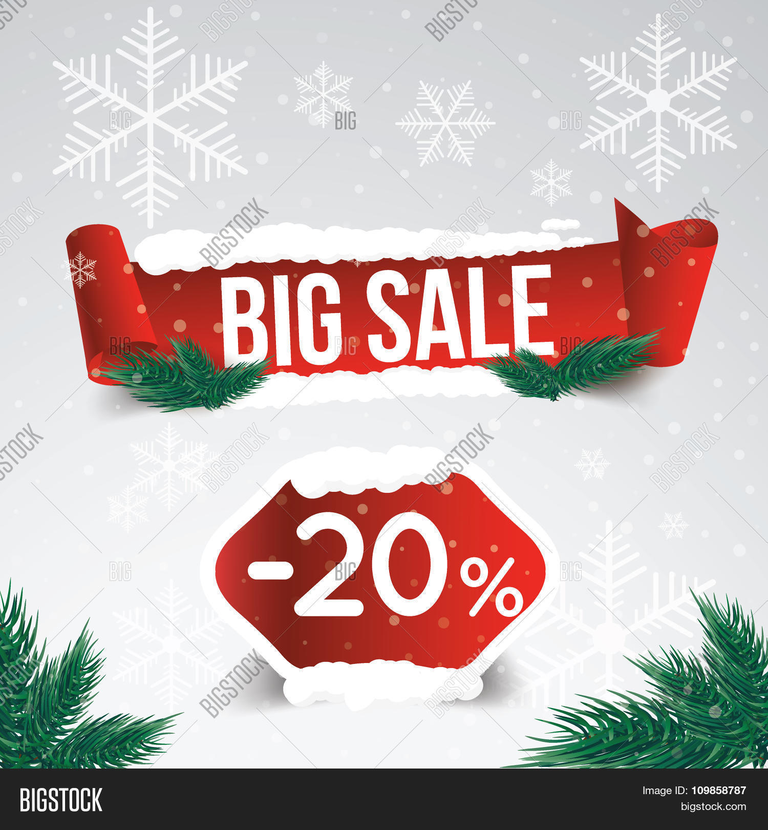 winter sale 20 percent winter vector photo bigstock. Black Bedroom Furniture Sets. Home Design Ideas