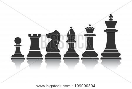 Chessmen Icon Vector