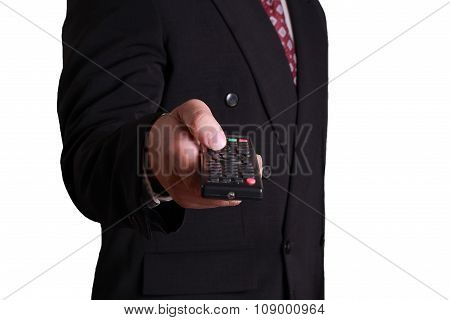 Businessman And Remote Control