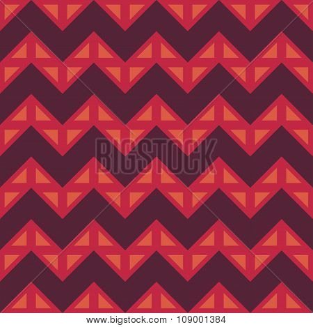 Vector modern seamless colorful geometry chevron lines pattern color red abstract