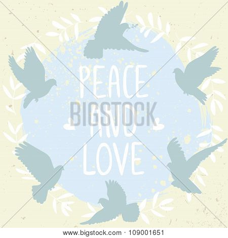 doves peace and love