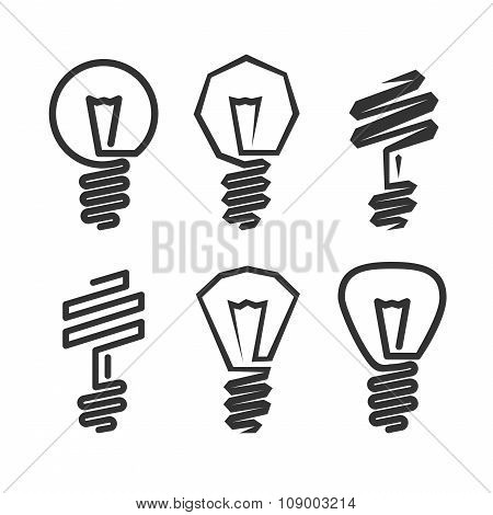Abstract Light Bulb Icon