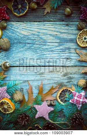Christmas Background Twigs Decorations Gifts Nature