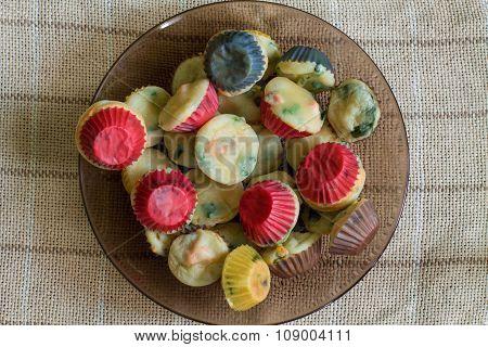 Random heap of homemade muffins