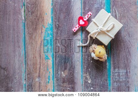 Gift On Background
