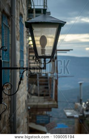 A Street Lamp, Safed (tzfat)