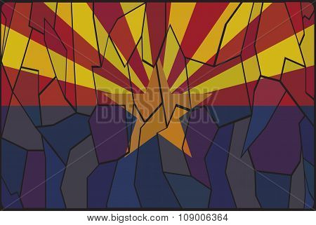 Arizona Stained Glass Window