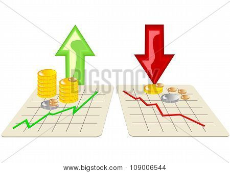 Stock Market With Arrows