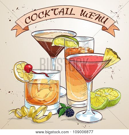 Contemporary Classics Cocktail menu