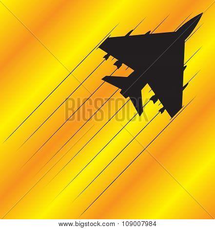 Fighter Jet Flying