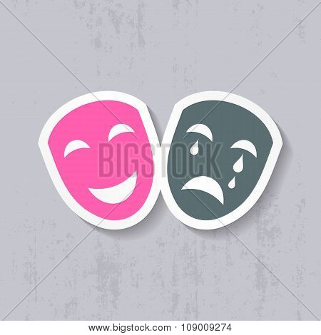 Happy And Sad Theatrical Masks