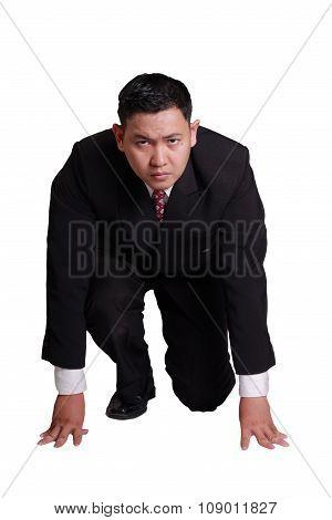 Businessman Ready To Run