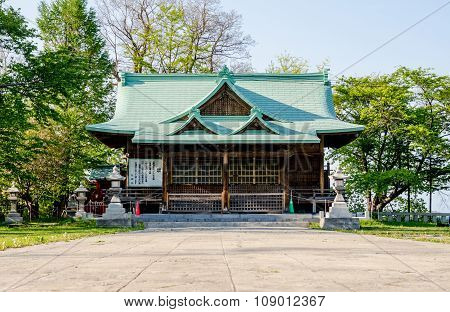 Suitengu Shrine The Temple Of Shinto Religion At Otaru, Hokkaido, Japan.
