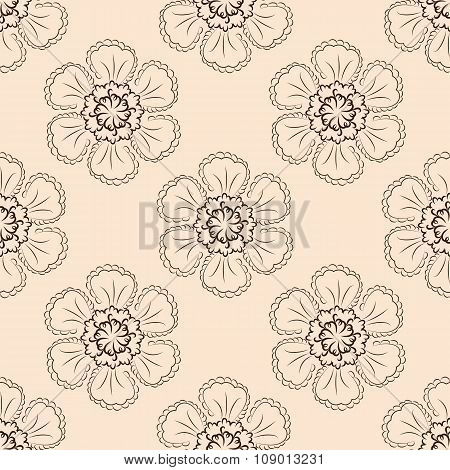 Floral Vector Seamless Pattern 6  Eps 10 Vector