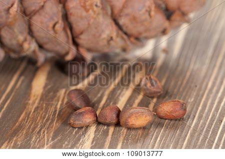 Cedar Cone And Nuts