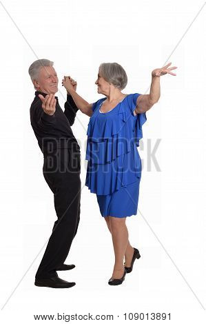 Elegant elderly couple