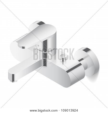 Faucet Isometric Icon