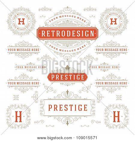 Vintage Vector Ornaments Decorations Design Elements