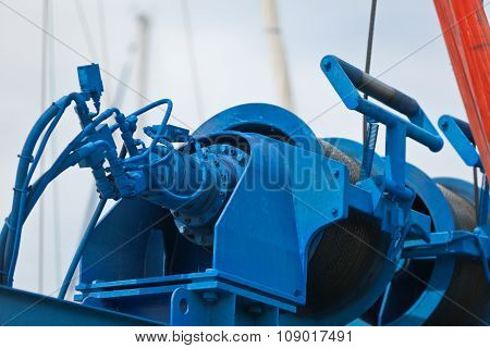 Crane For A Ship Maintenance Detail