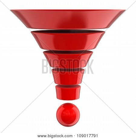 3d Cone (clipping path included)