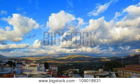 Clouds Over Guadalhorce Valley