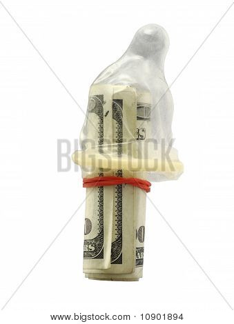 Bundle of hundred dollar bills